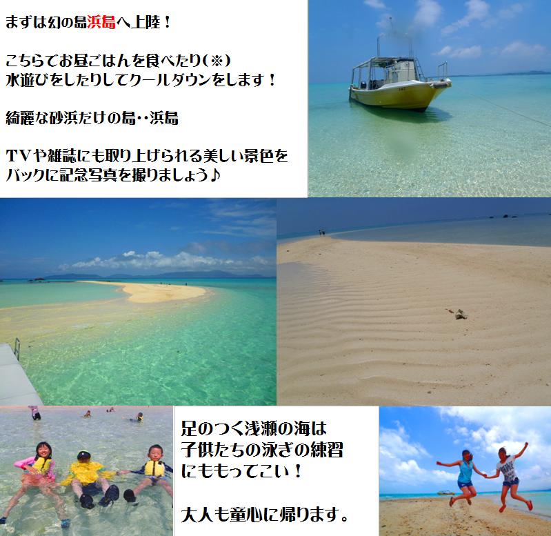 石垣島,浜島上陸